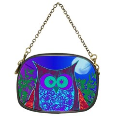 Moon Owl Chain Purse (one Side)