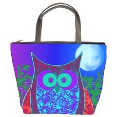 Moon Owl  Bucket Handbag