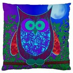 Moon Owl  Large Cushion Case (Two Sided)