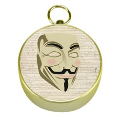 We The Anonymous People Gold Compass