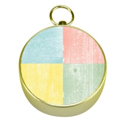 Pastel Textured Squares Gold Compass