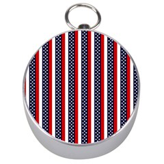 Patriot Stripes Silver Compass