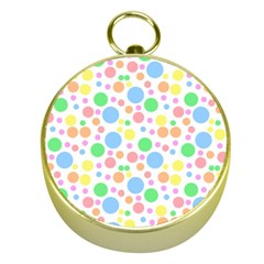 Pastel Bubbles Gold Compass