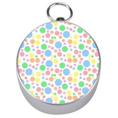 Pastel Bubbles Silver Compass