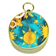 Musical Peace  Gold Compass