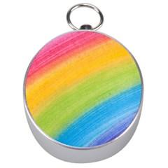 Acrylic Rainbow Silver Compass
