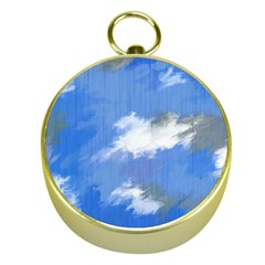 Abstract Clouds Gold Compass