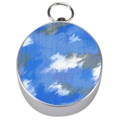 Abstract Clouds Silver Compass