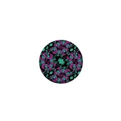 Floral Arabesque Pattern 1  Mini Button Magnet