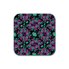 Floral Arabesque Pattern Drink Coasters 4 Pack (Square)