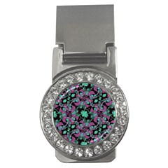 Floral Arabesque Pattern Money Clip (cz)