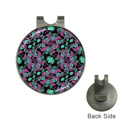 Floral Arabesque Pattern Hat Clip With Golf Ball Marker