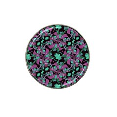 Floral Arabesque Pattern Golf Ball Marker 4 Pack (for Hat Clip)