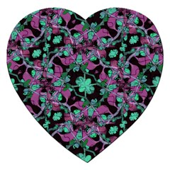 Floral Arabesque Pattern Jigsaw Puzzle (heart)