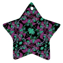 Floral Arabesque Pattern Star Ornament (Two Sides)