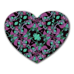 Floral Arabesque Pattern Mouse Pad (heart)