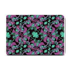 Floral Arabesque Pattern Small Door Mat