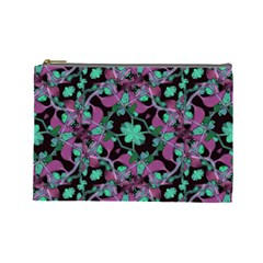 Floral Arabesque Pattern Cosmetic Bag (large)