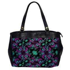Floral Arabesque Pattern Oversize Office Handbag (one Side)