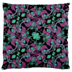 Floral Arabesque Pattern Large Cushion Case (two Sided)