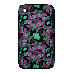 Floral Arabesque Pattern Apple iPhone 3G/3GS Hardshell Case (PC+Silicone)