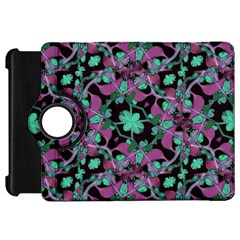Floral Arabesque Pattern Kindle Fire HD 7  (1st Gen) Flip 360 Case