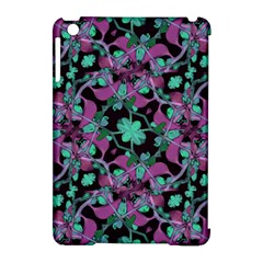 Floral Arabesque Pattern Apple Ipad Mini Hardshell Case (compatible With Smart Cover)