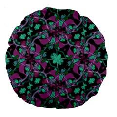 Floral Arabesque Pattern 18  Premium Round Cushion