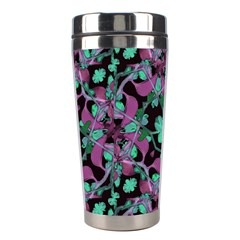 Floral Arabesque Pattern Stainless Steel Travel Tumbler