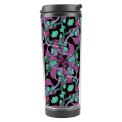 Floral Arabesque Pattern Travel Tumbler