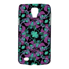 Floral Arabesque Pattern Samsung Galaxy S4 Active (i9295) Hardshell Case