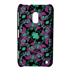 Floral Arabesque Pattern Nokia Lumia 620 Hardshell Case