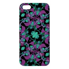 Floral Arabesque Pattern iPhone 5S Premium Hardshell Case