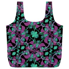 Floral Arabesque Pattern Reusable Bag (xl)