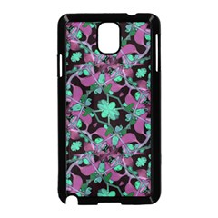 Floral Arabesque Pattern Samsung Galaxy Note 3 Neo Hardshell Case (black)