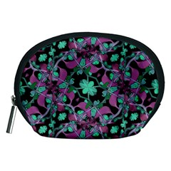 Floral Arabesque Pattern Accessories Pouch (medium)