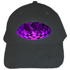 Abstract In Purple Black Baseball Cap