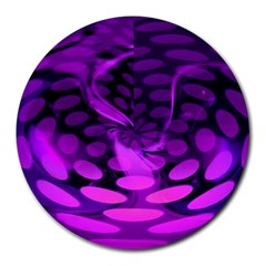 Abstract In Purple 8  Mouse Pad (round)