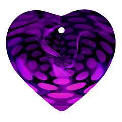 Abstract In Purple Heart Ornament