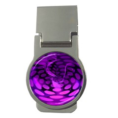 Abstract In Purple Money Clip (Round)