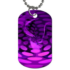 Abstract In Purple Dog Tag (one Sided)