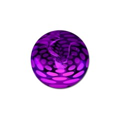 Abstract In Purple Golf Ball Marker