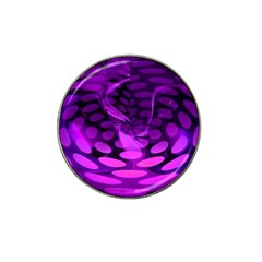 Abstract In Purple Golf Ball Marker 4 Pack (for Hat Clip)