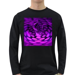 Abstract In Purple Men s Long Sleeve T Shirt (dark Colored)