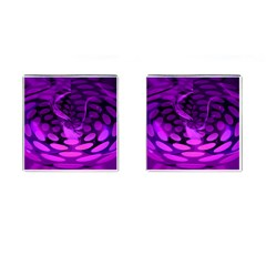 Abstract In Purple Cufflinks (Square)