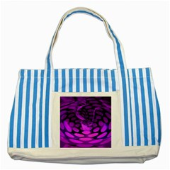 Abstract In Purple Blue Striped Tote Bag