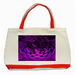 Abstract In Purple Classic Tote Bag (Red)