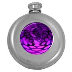 Abstract In Purple Hip Flask (Round)