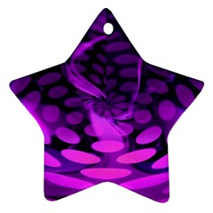 Abstract In Purple Star Ornament (Two Sides)