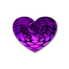 Abstract In Purple Drink Coasters 4 Pack (heart)